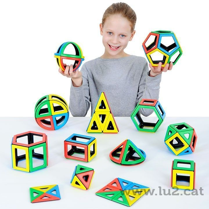 Polydron Magnetic Mathematics Set 118 peces